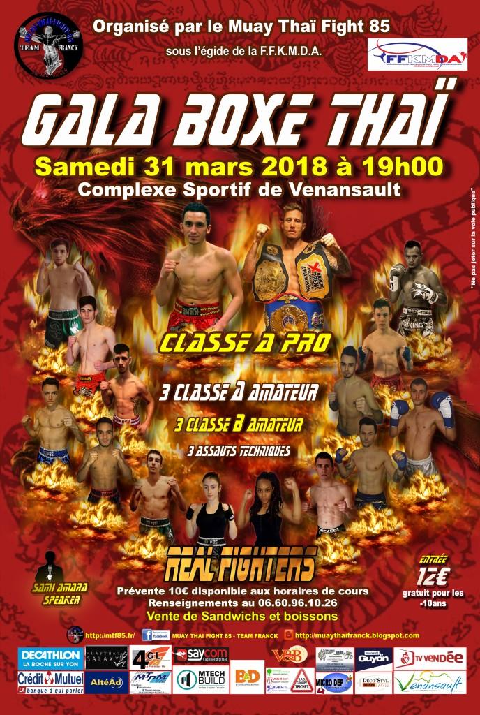 Affiche Gala 2018 du MUAY THAI FIGHT 85